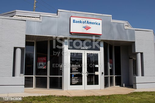Indianapolis - Circa April 2020: Bank of America Bank and Loan Branch. Bank of America is also known as BofA or BAC.