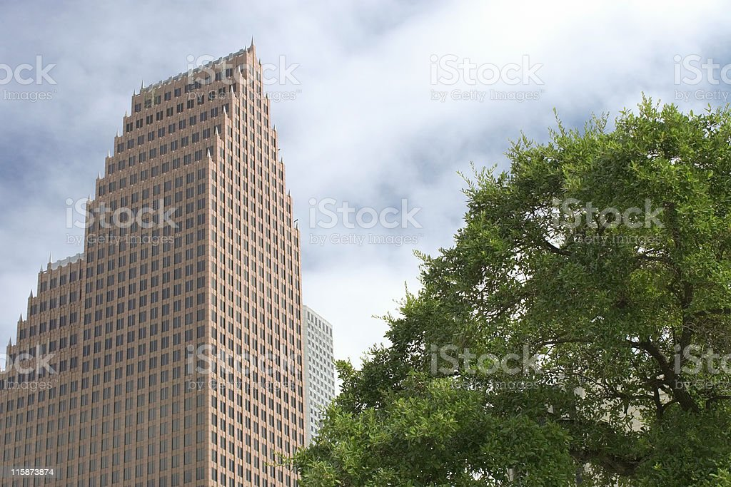 Bank of America Center royalty-free stock photo