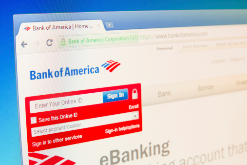 Bank Of America Login Stock Photo More Pictures Of Bank Istock