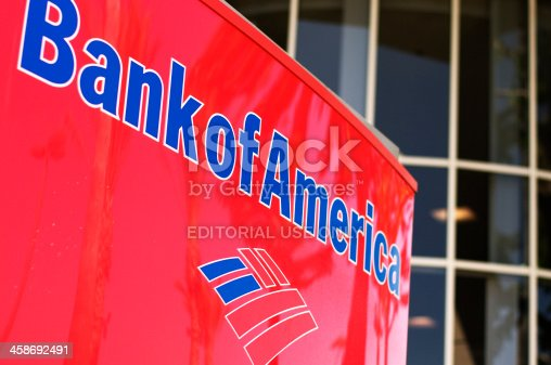 La Jolla, USA- September 16, 2011: Bank of America Sign outside the branch at La Jolla Village Square.