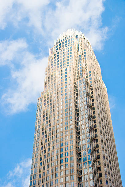 Bank of America Plaza, Charlotte stock photo