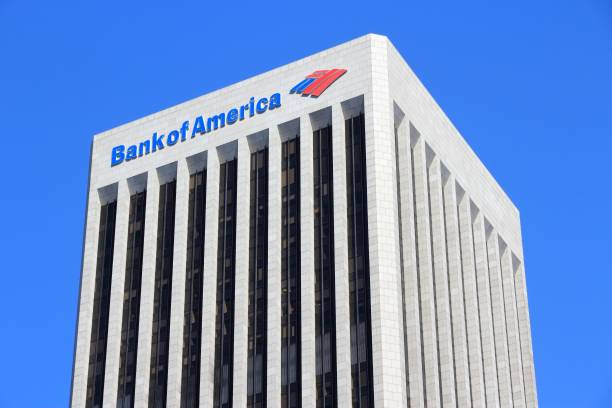 Bank of America Plaza stock photo