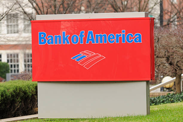 Bank of America sign stock photo