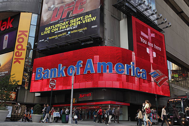 Bank of America-Times Square, video display – Foto