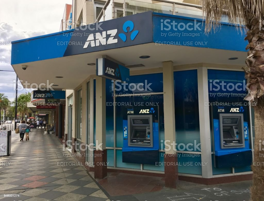 ANZ - Bank of Australia and New Zealand stock photo