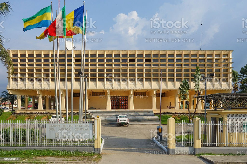 Bank of Central African States stock photo