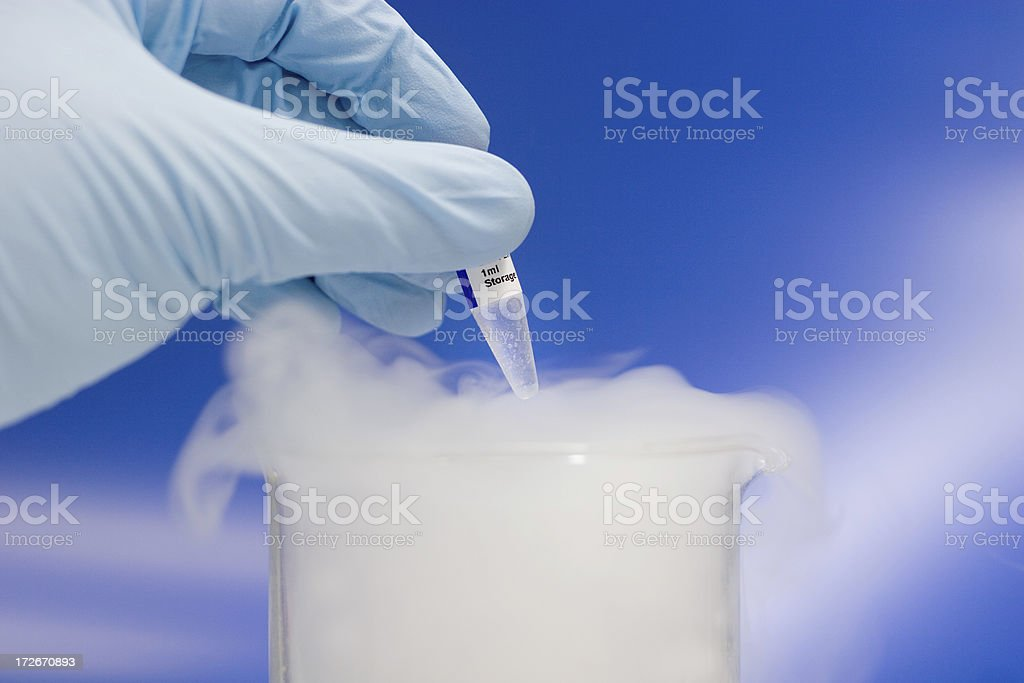 Bank of DNA royalty-free stock photo