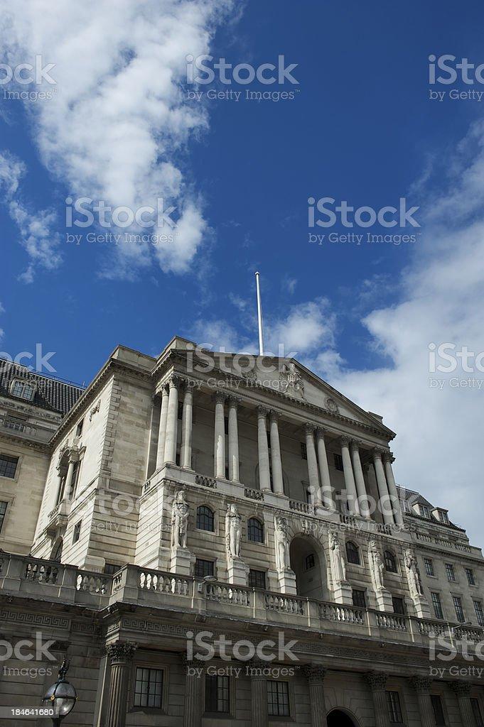 Bank of England Building Blue Sky London stock photo