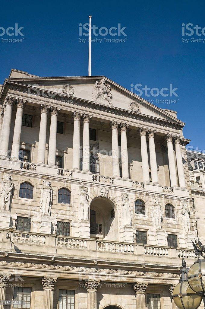 Bank of England financial district Threadneedle Street City London UK royalty-free stock photo