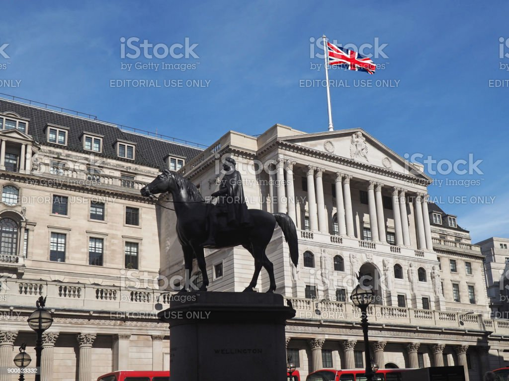 Bank of England headquarters stock photo