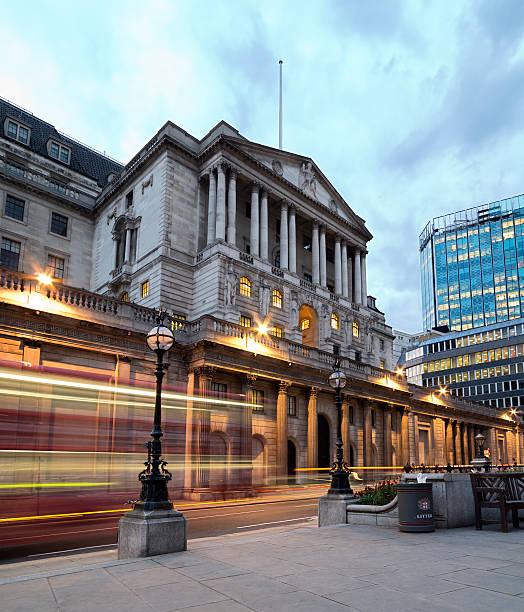 Banco de Inglaterra en la ciudad de Londres - foto de stock