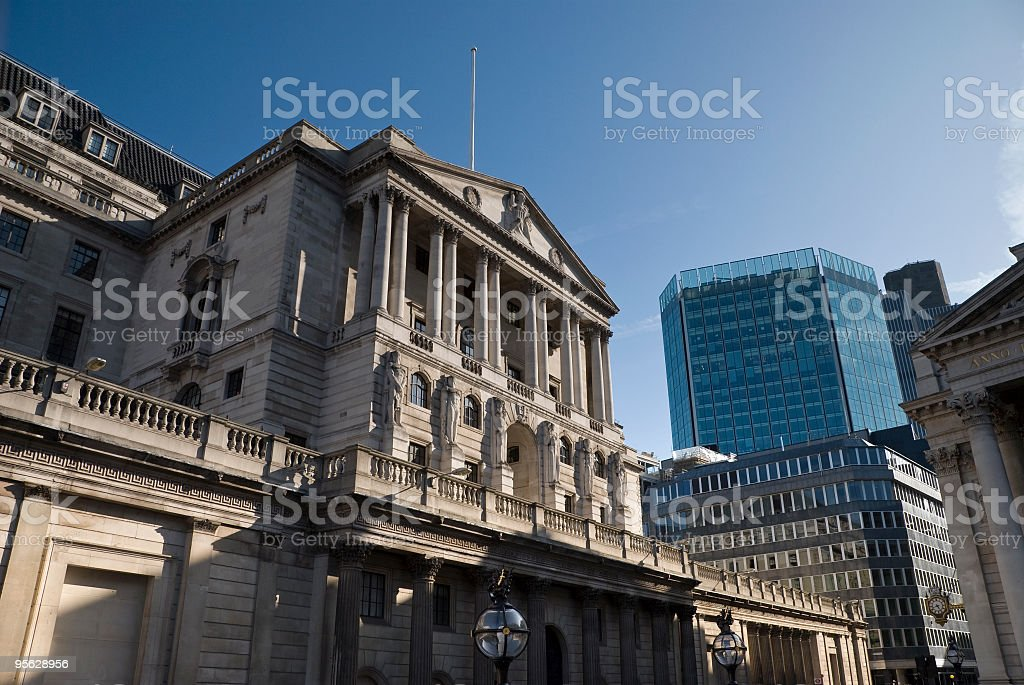 Bank of England, London royalty-free stock photo