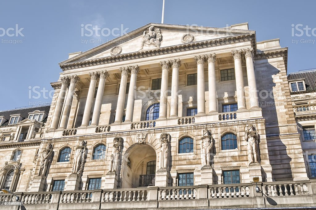 Bank of England, London stock photo