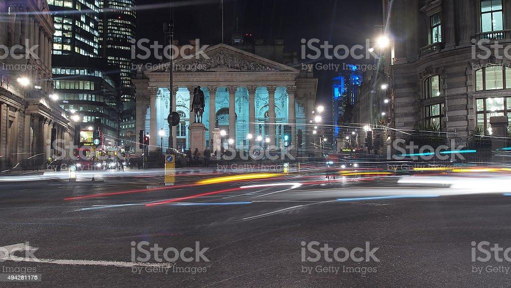 Bank of England (long exposure) stock photo