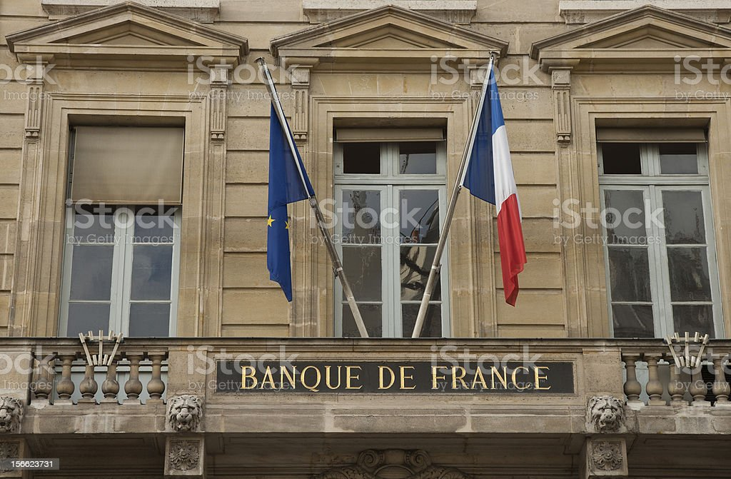 Bank of France royalty-free stock photo