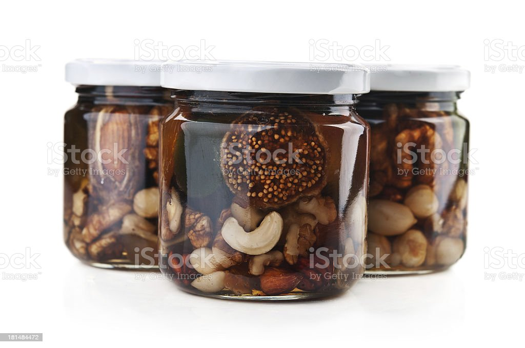 Bank of jam nuts royalty-free stock photo