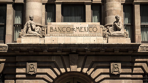 Bank Of Mexico In Mexico City stock photo