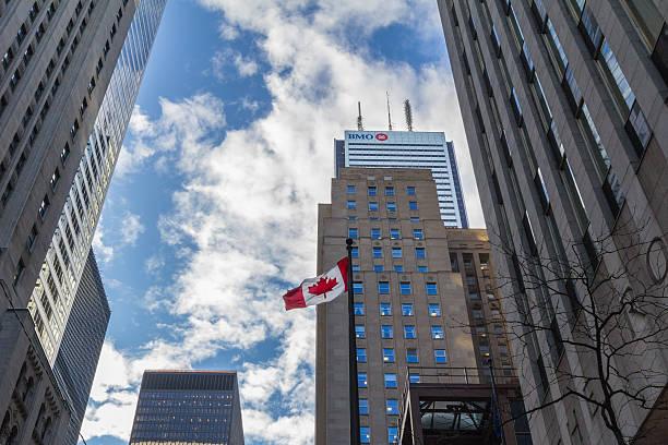 Bank of Montreal (BMO) main building in Toronto, Ontario, Canada stock photo