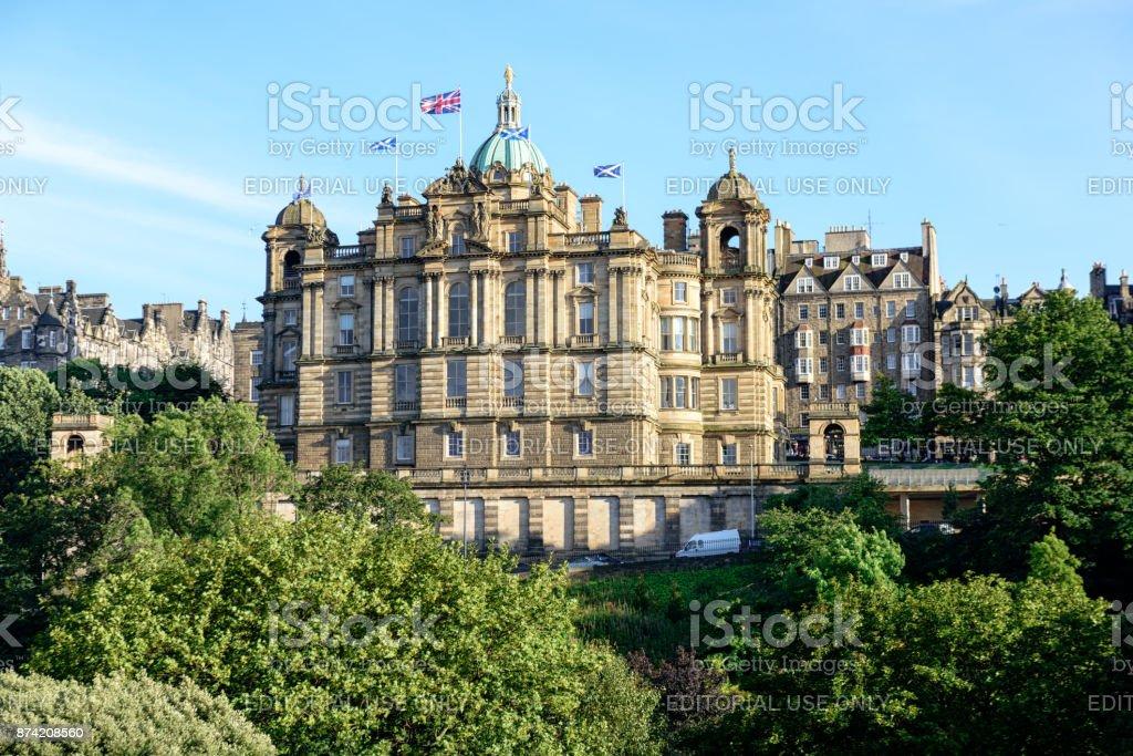Bank of Scotland Headquaters, Edinburgh, Scotland stock photo