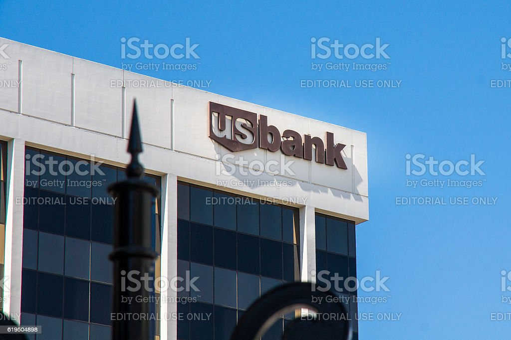 US bank office building in Beverly Hills stock photo