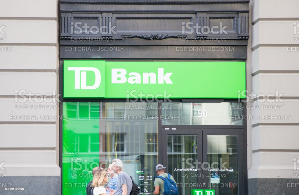A Td Bank Over One Of The Banks Branch In New York City