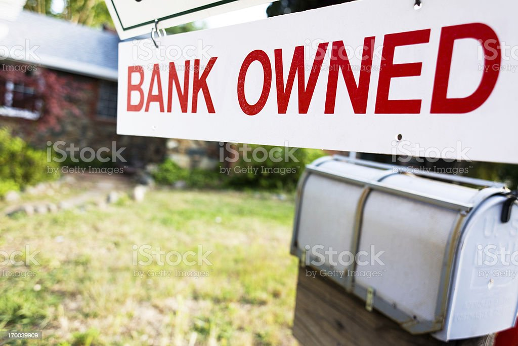 Bank Owned Home stock photo