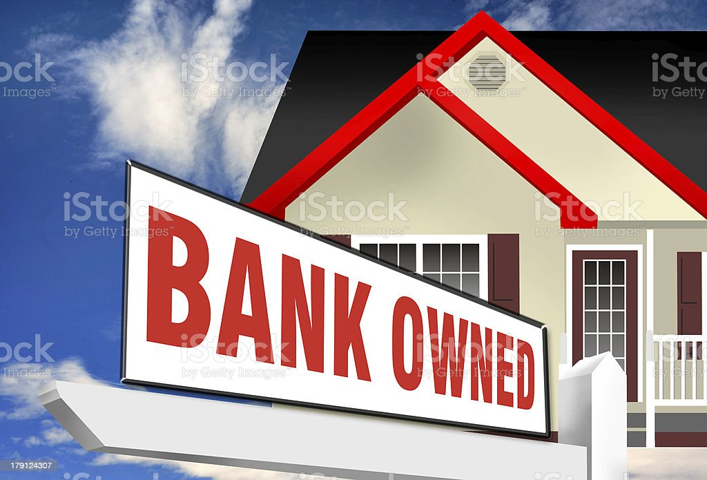 Bank Owned Homes. stock photo