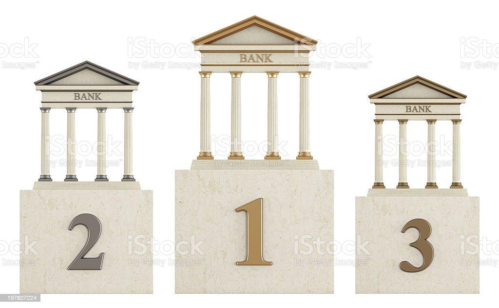 Bank  podium stock photo
