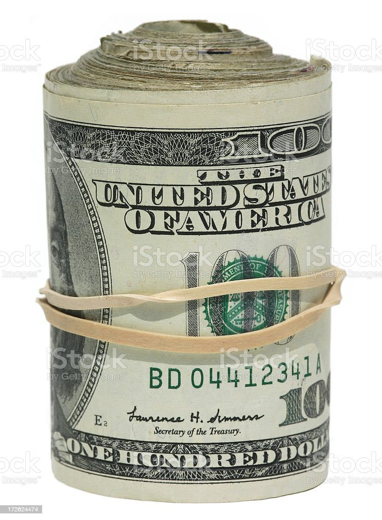 Bank Roll royalty-free stock photo