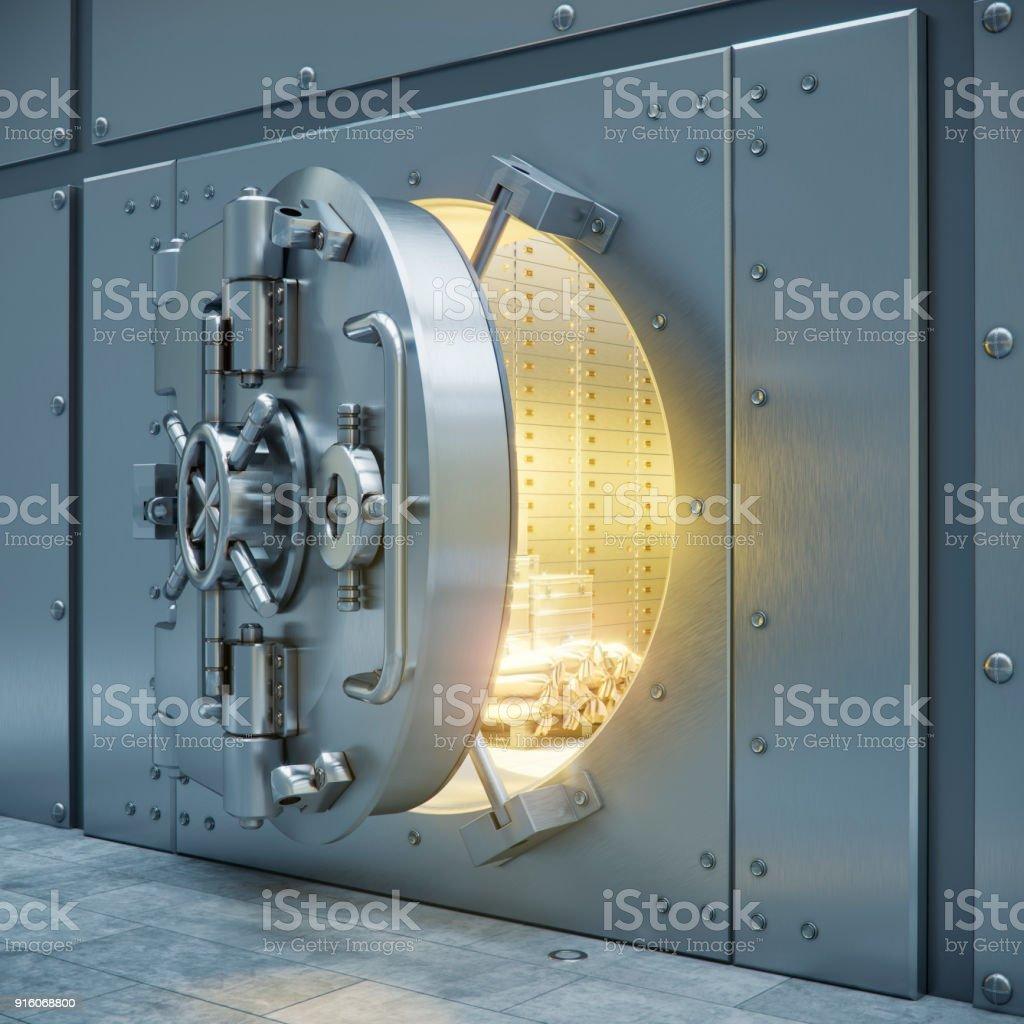 Bank safe storage 3d illustration стоковое фото