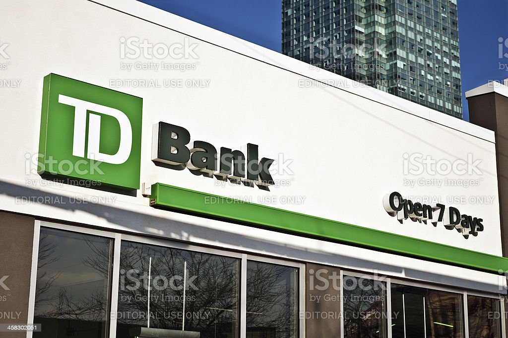 Td Bank Sign In New York Cy Stock Photo - Download Image Now