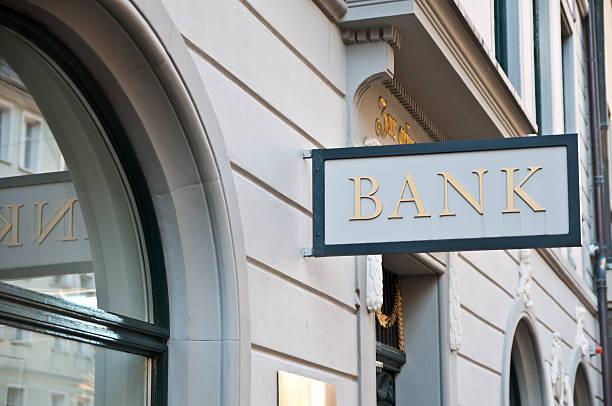 bank sign - franken stockfoto's en -beelden