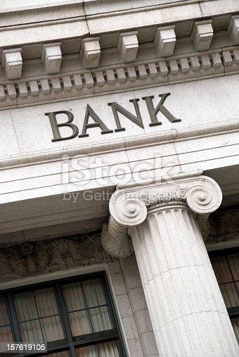 istock Bank Sign 157619105