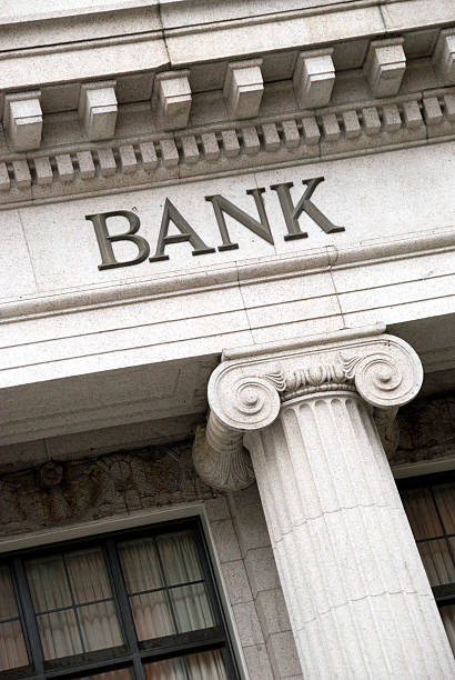 Bank Sign stock photo
