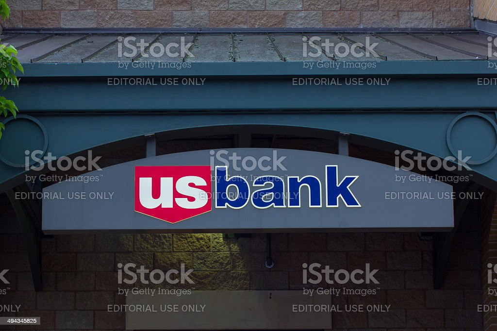 U.S. Bank Sign stock photo