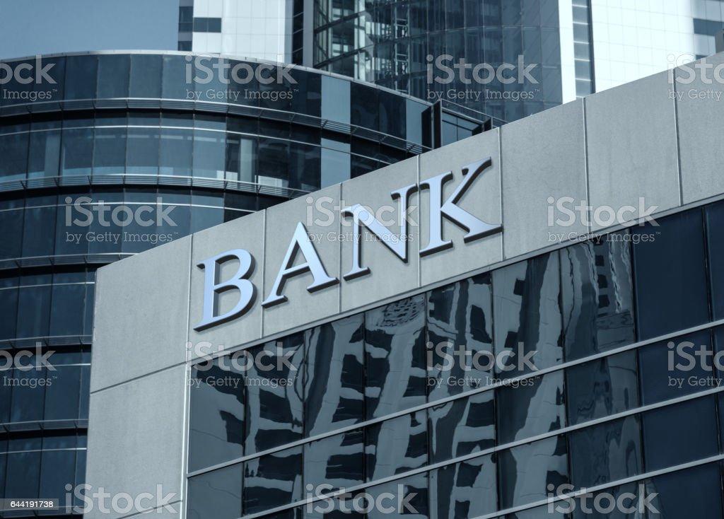 Bank-Schild – Foto