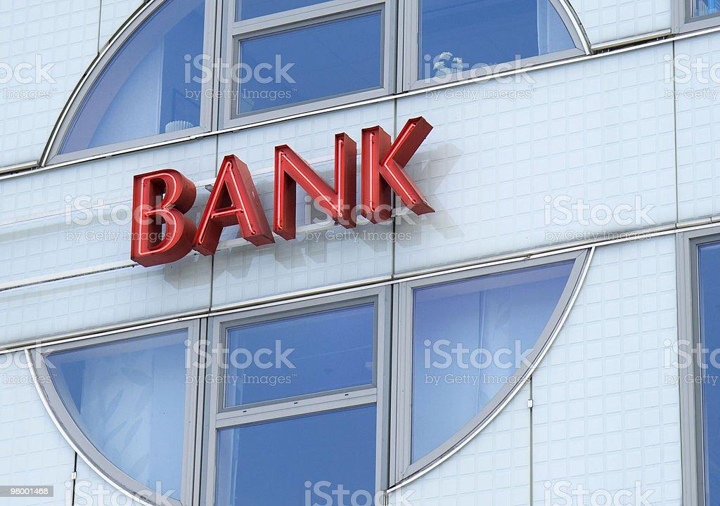 Bank sign royalty free stockfoto
