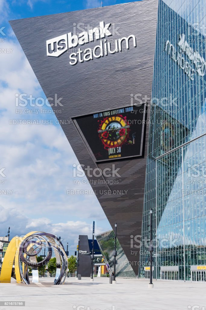 US Bank Stadium, home of Minnesota Vikings, exterior stock photo