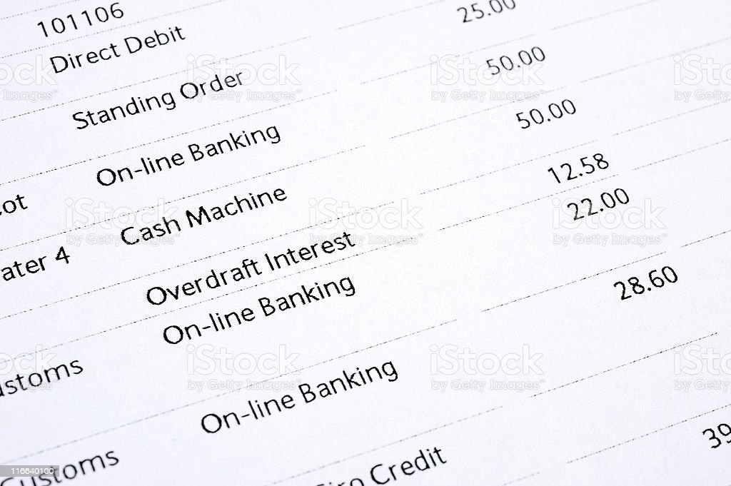 Bank statement royalty-free stock photo