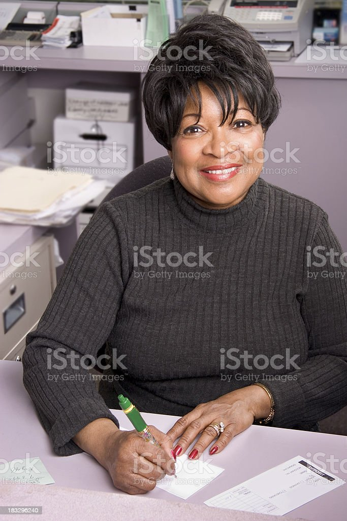 Bank Teller Smile -1 royalty-free stock photo