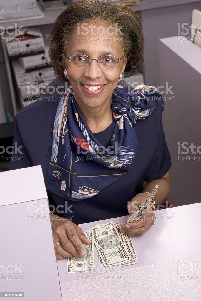 Bank Teller Smile - 9 royalty-free stock photo