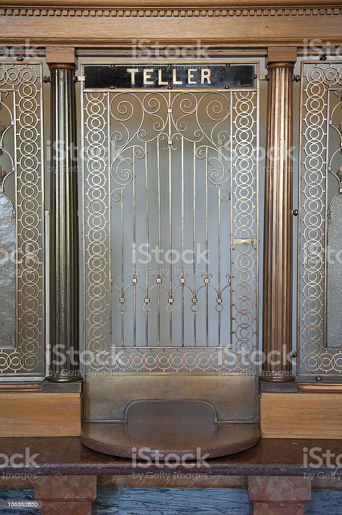 Bank Teller Window stock photo