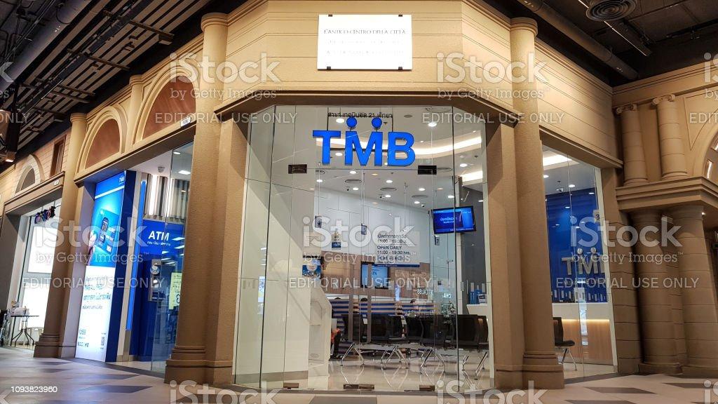 TMB Bank, Terminal 21 Pattaya-Filiale. Die TMB BANK PUBLIC COMPANY LIMITED auch bekannt als Thai Military Bank größte Banken- und Finanzsektor Gruppe in Thailand. – Foto