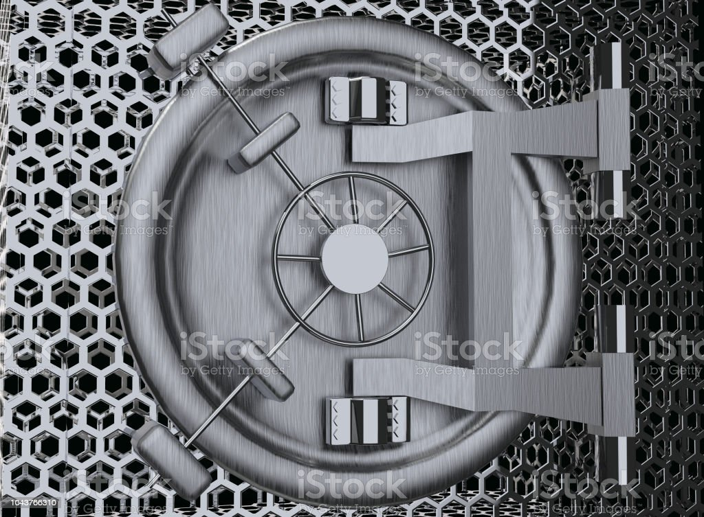 Bank Vault Door 3D rendering стоковое фото