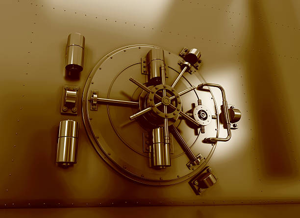 Bank Vault stock photo
