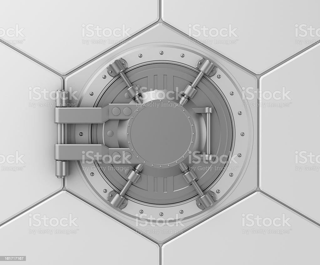Bank vault safe door concept royalty-free stock photo