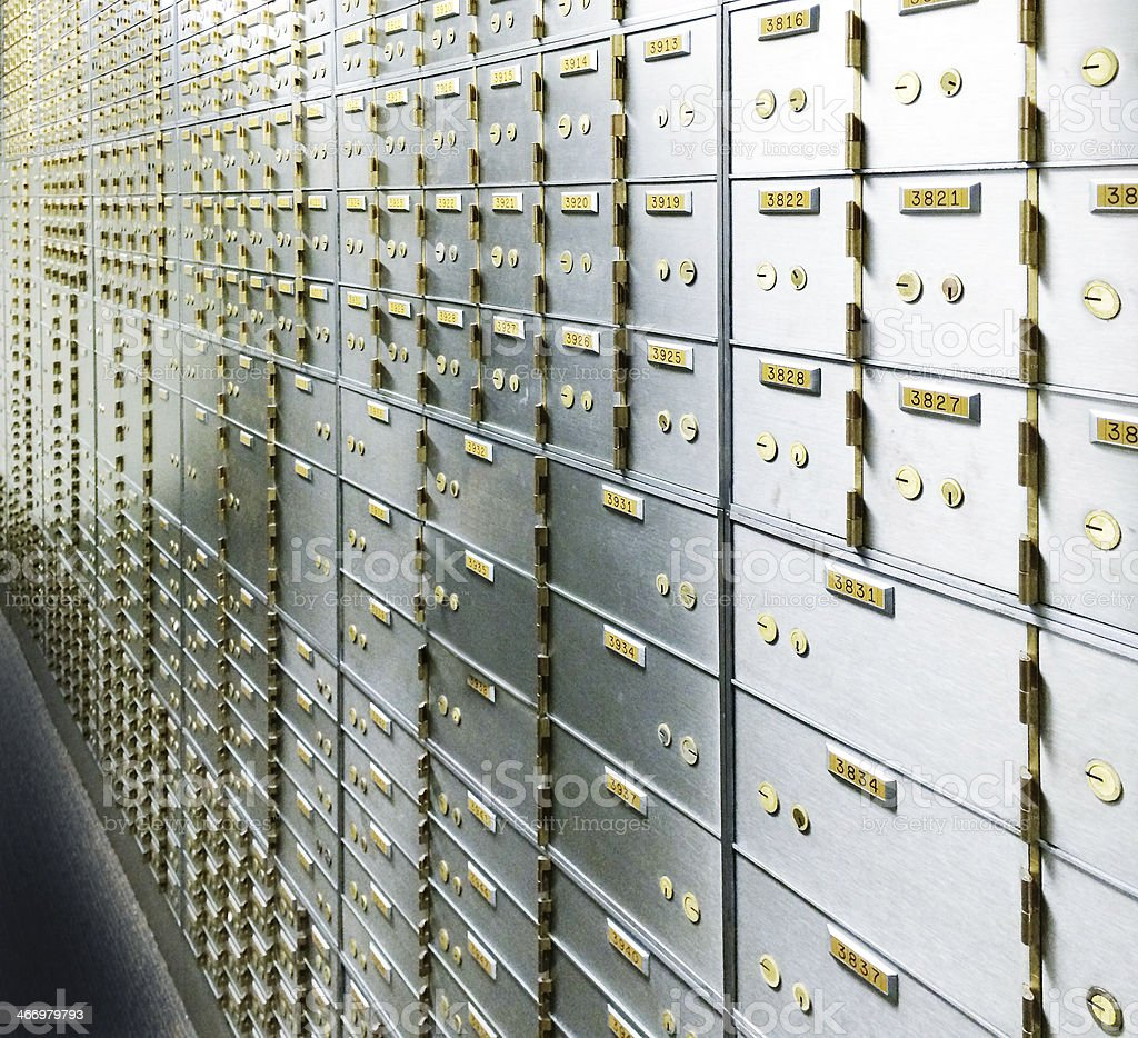 Bank Vault Safety Deposit Box stock photo
