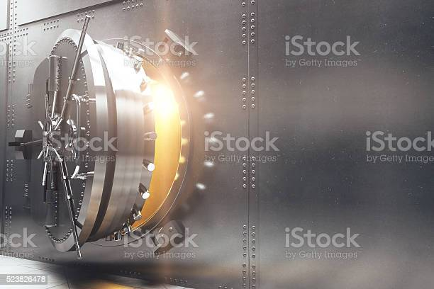 Bank Vault Side Stock Photo - Download Image Now