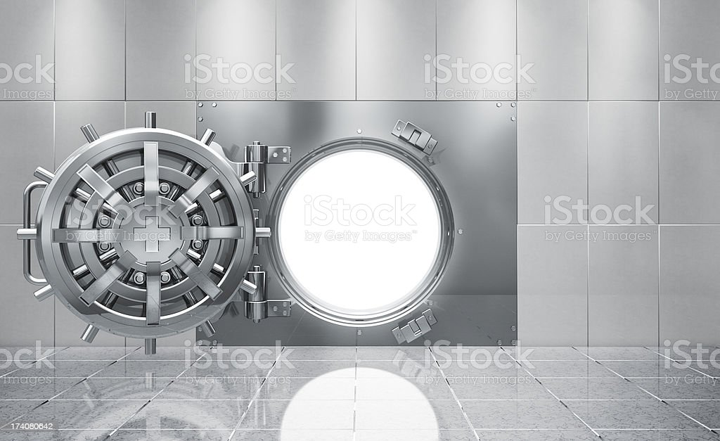 Bank Vault Strong-room stock photo