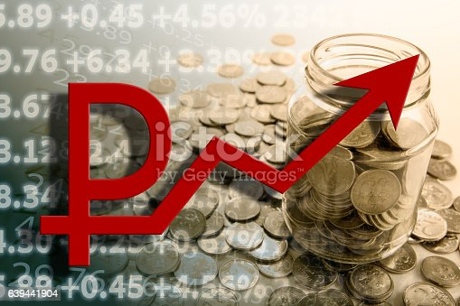 istock bank with ruble coins and counting 639441904